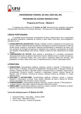 Programa de Provas do Módulo II