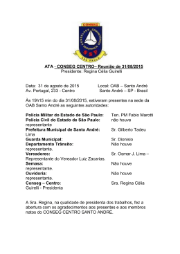 ATA - CONSEG CENTRO– Reunião de 31/08/2015 Presidente