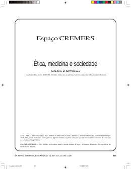 Ética, medicina e sociedade