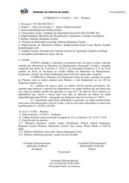 ACÓRDÃO Nº 1154/2015 – TCU – Plenário 1. Processo nº TC