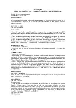 RESOLUÇÃO 23.089 - INSTRUÇÃO Nº 126 – CLASSE 19ª