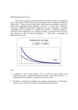 RESFRIAMENTO DE ÁGUA Resolvendo a equação de - PUC-Rio
