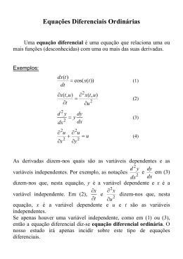Equações Diferenciais Parte I