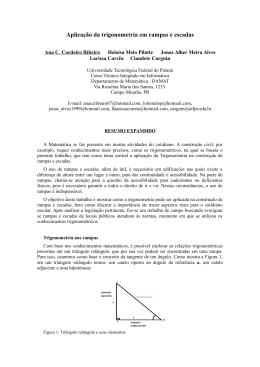 Aplicação da trigonometria em rampas e escadas