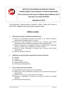 Prova de Economia 2013/14