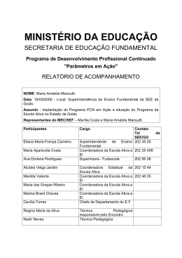 Parâmetros em Ação - Ministério da Educação