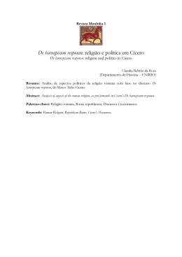 De haruspicum responso: religião e política em Cícero