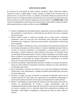 CARTA DO RIO DE JANEIRO Os assessores de - TCE