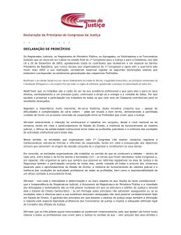 Declaração de Princípios do Congresso da Justiça