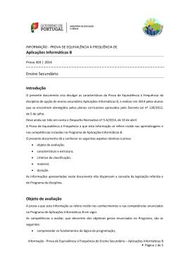 Aplicações Informáticas B Ensino Secundário Introdução