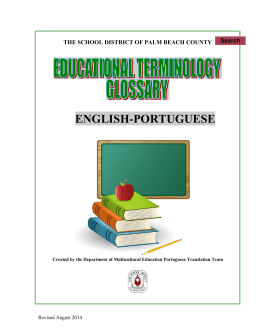 Portuguese Glossary - the School District of Palm Beach County