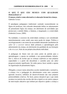 Cadernos de Sociomuseologia - Revistas Científico