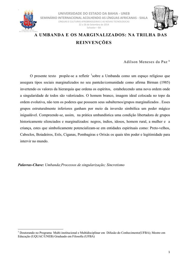 kardecismo e umbanda uma interpretação sociológica