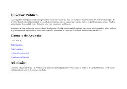 O Gestor Público - centro acadêmico de ciências do estado / cace