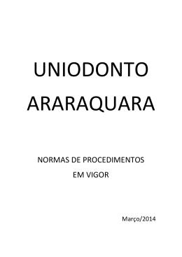NORMAS DE PROCEDIMENTOS EM VIGOR