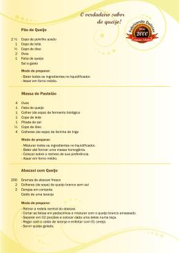 Pão de Queijo Abacaxi com Queijo Massa de Pastelão