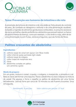 Prevenção aos tumores de intestino e de reto