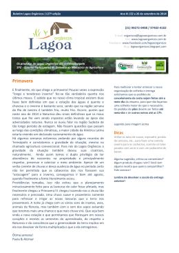 Primavera - Lagoa Orgânicos