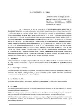 EDITAL DE LICITAÇÃO - Ministério Público do Estado do Tocantins