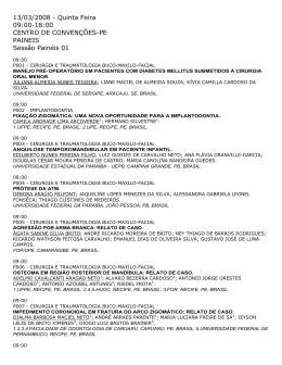 13/03/2008 - Quinta Feira 09:00-18:00 CENTRO DE CONVENÇÕES