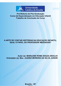Marilene Roma Souza Araujo - Universidade Católica de Brasília