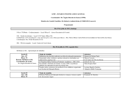 GT05 – ESTADO E POLÍTICA EDUCACIONAL Coordenador