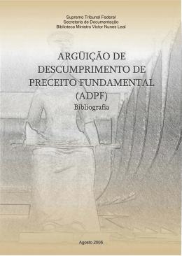 ADPF agosto 2006 - Supremo Tribunal Federal