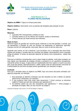 FLORES REVELADORAS - Rede Ambiental Escoteira