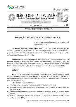 resolução cnas nº 1, de 10 de fevereiro de 2015.