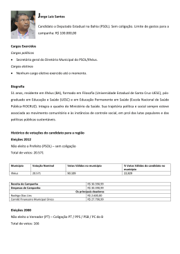 Jorge Luiz Santos Candidato a Deputado Estadual na Bahia