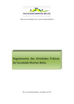 Regulamento das Atividades Práticas da Faculdade Montes Belos
