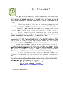 Que é interlíngua? - Union Mundial pro Interlingua