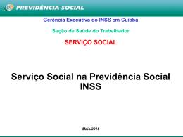 Serviço Social na Previdência Social INSS