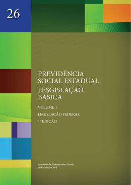 PREVIDÊNCIA SOCIAL ESTADUAL LESGISLAÇÃO BÁSICA