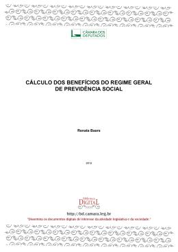 cálculo dos benefícios do regime geral de previdência social