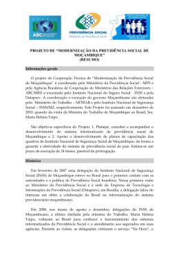 Projeto de Modernização da Previdência Social de Moçambique