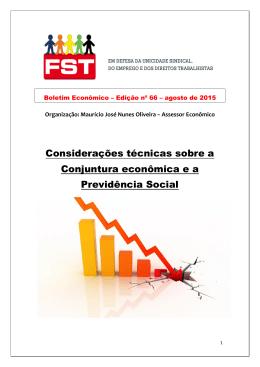 Boletim Econômico do FST nº 66