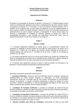 Regulamento_Creditacao_outubro 2013 - ESELx