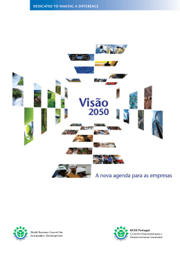 Visão 2050 - World Business Council for Sustainable Development