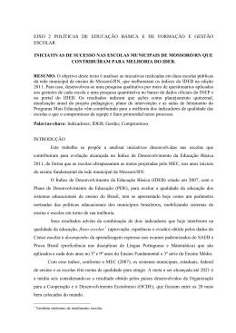 iniciativas de sucesso nas escolas municipais de mossoró