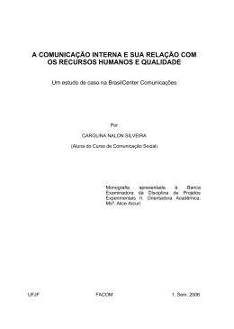 a comunicação interna e sua relação com os recursos humanos e