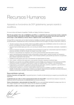 10. Política de Recursos Humanos