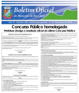 27 de dez. de 2013. - Governo Municipal.