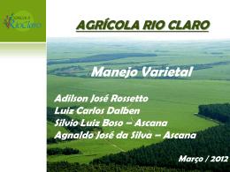 Manejo varietal na Agrícola Rio Claro