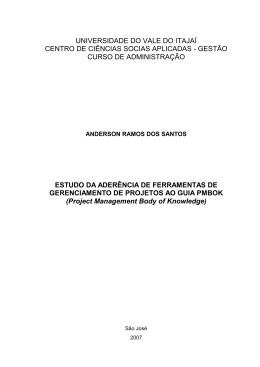 ESTUDO DA ADERÊNCIA DE FERRAMENTAS DE