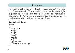 c) Qual o valor de y no final do programa? Escreva um