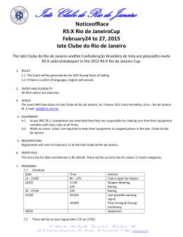 Notice of Race - Iate Clube do Rio de Janeiro