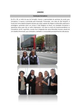 Janeiro 2012 - Apóstolas da Sagrada Família