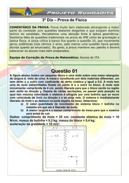 Resolução IME 2007/08 - Física - Discursiva