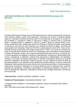 Seção: Morfologia/Anatomia Luciana Rodrigues SANTANA (1